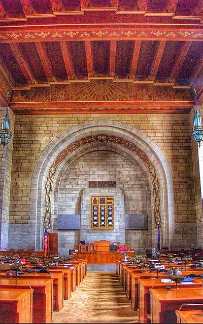Lincoln Nebraska ~ Nebraska State Capitol ~ Old Senate Chambers~ Historical