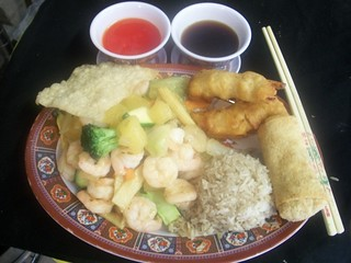 C6 Hawaiian Shrimp and 2pc Garlic Chicken   by Golden Gate Chinese Restaurant