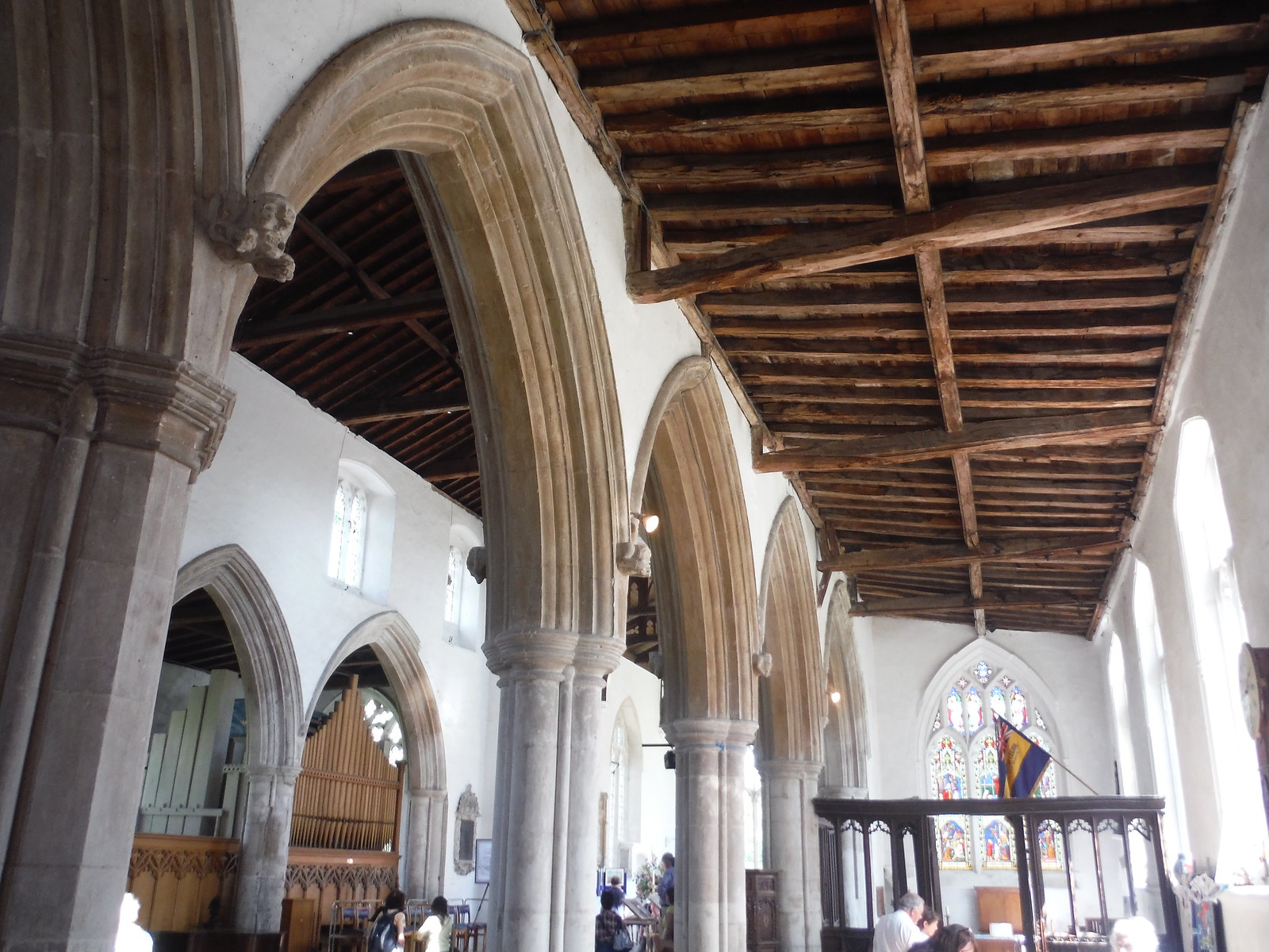 Interior of Ashwell Church SWC Walk 91 - Baldock Circular