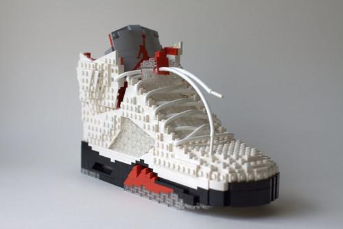 LEGO Nike Air Jordan V - White/Black-Fire Red
