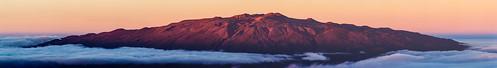 sunset panorama clouds pano observatory telescope astronomy telescopes maunakea observatories maunaloa