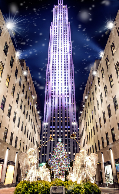 Rockefeller center just in time for the snow