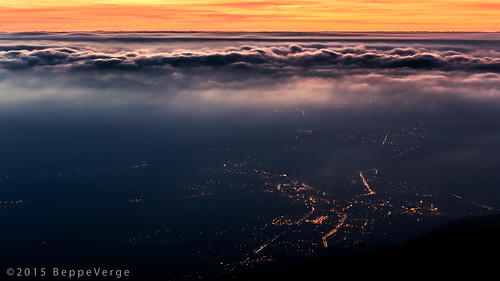 clouds sunrise dawn nuvole alba città valsesia borgosesia tovo beppeverge