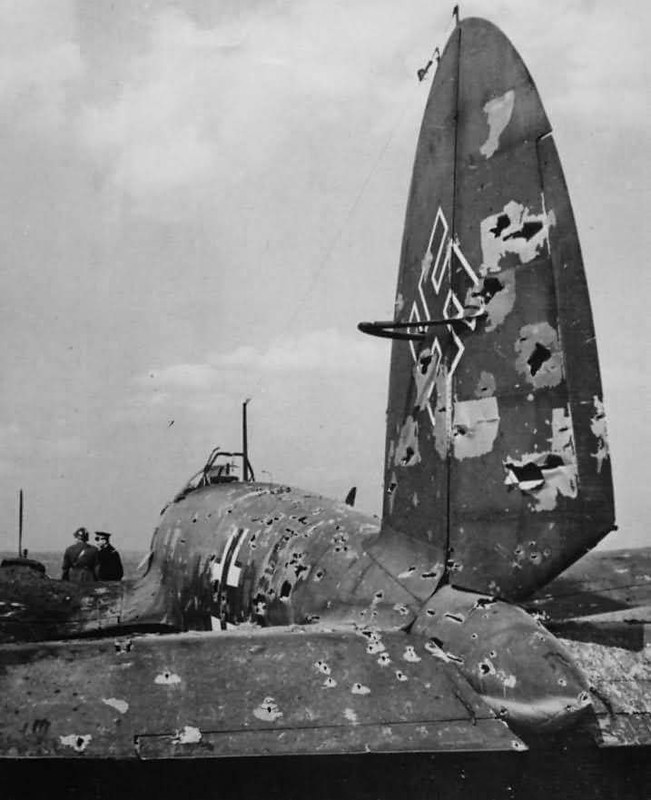 Heinkel He111 shot down in France 1940