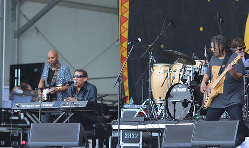 Henry Butler  at Jazz Fest 2016.  Photo by Bill Sasser.