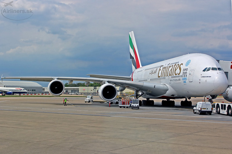 A6-EDT Emirates Airbus A380-861