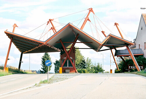 Failed Architecture: After #Schengen. Delightful. At least these border posts are empty today http://t.co/ARj0HW6KGd http://t.co/OHvafPun9Z