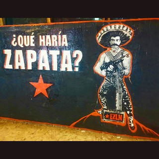 Just finished!!! What would Zapata do? Street Art Installation on La Cienega and Jefferson in Los Angeles.  Justice and equality will prevail. People take the power back!     #StreetArtLA #StreetArt #VivaChe #vivacheman #emilianozapata #EZLN #Zapata #zapa | by VIVACHE