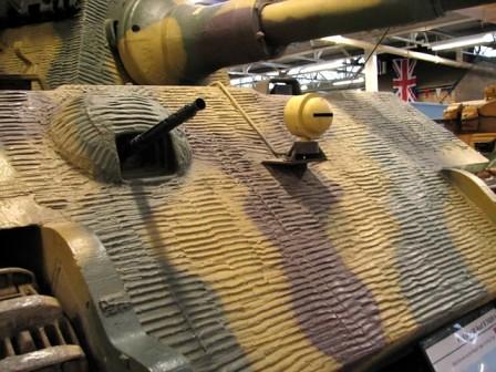 Zimmerit instalado en un Tiger II