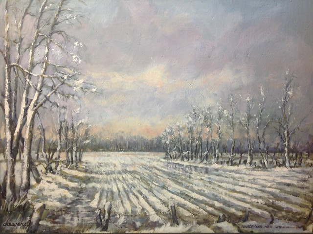 Natte sneeuw(Ham Limburg) Acryl on canvas 100x80cm