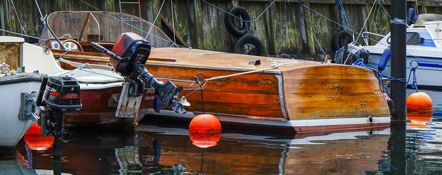 Motorboat in Christianshavn Copenhagen