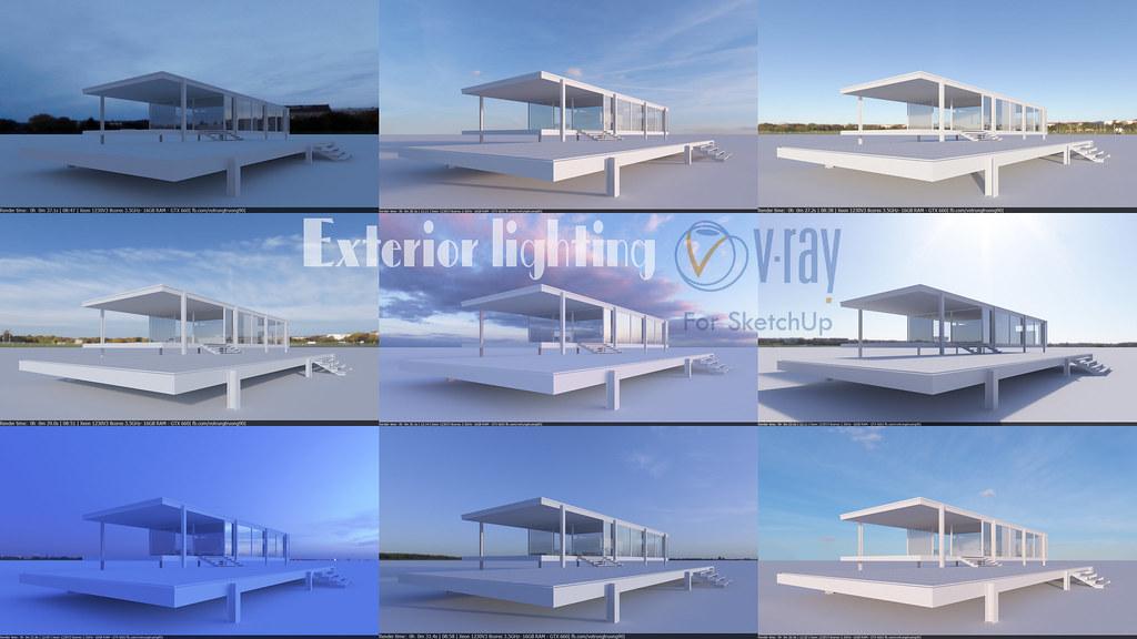 HDRI SketchUp   Exterior HDRI lighting Vray SketchUp   Vo