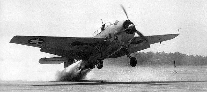 TBM Avenger testing rocket assisted take off