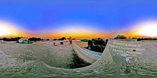 360 dusk family imran lahore pakistan panorama spherical sunset