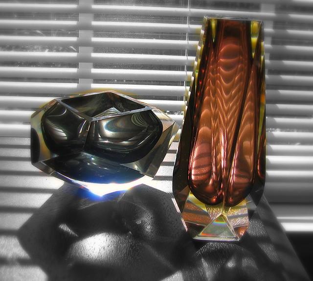 Prisms, Murano glass, Italy