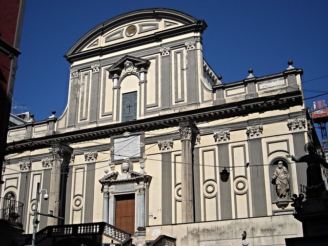 Church of San Paolo Maggiore in Naples - Front (between 1581 and 1603) with two columns of Augustan age - Architect Francesco Grimaldi