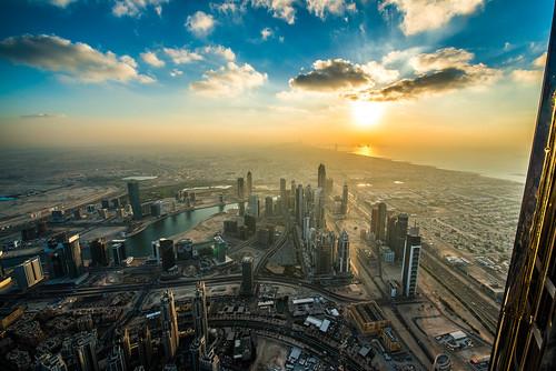 Dubai Sunset from Burj Khalifa | by SimSullen