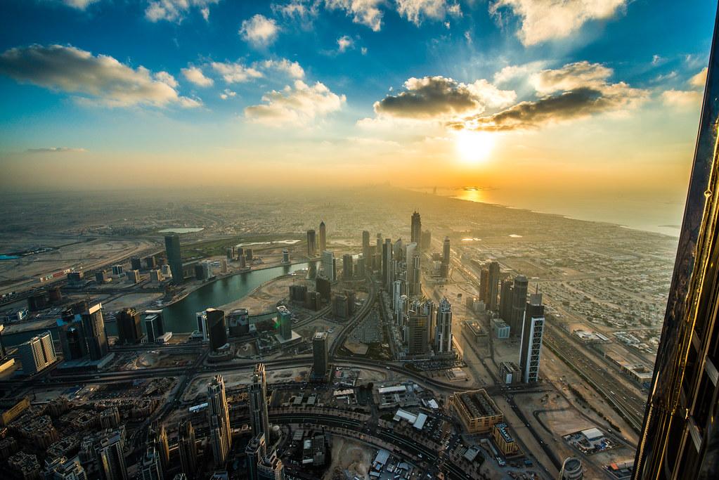 Sunset from Burj Khalifa - Things to do in Dubai