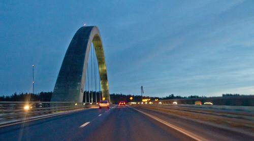 bridge norway sweden border svinesund