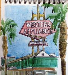 Western Appliance sign in Steven's Creek, California