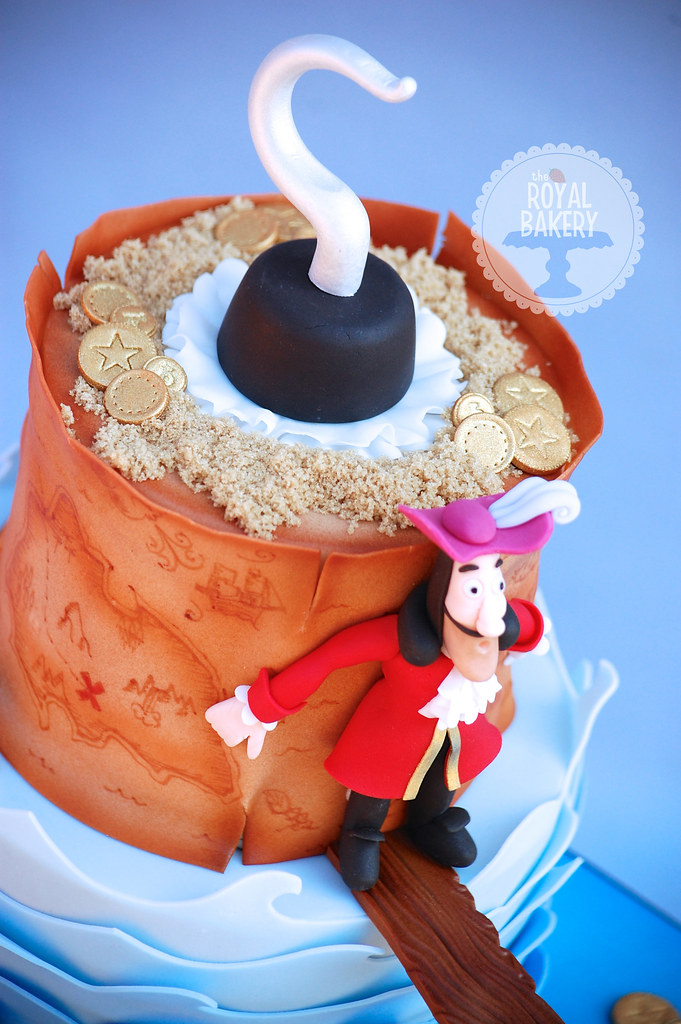 Fantastic Captain Hook And Croc Cake Lesley Wright Flickr Personalised Birthday Cards Arneslily Jamesorg
