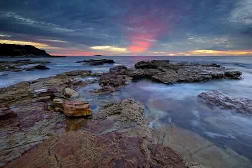 ocean seascape seaside rocks australia newsouthwales aus swanseaheads nikon1635mmf4 chalkybeach nikond750