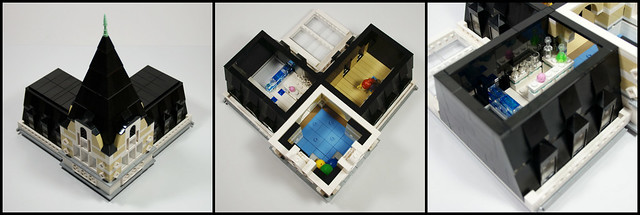LEGO Modular Building: Main Post Office - Women's Only Gym On The 4th Floor