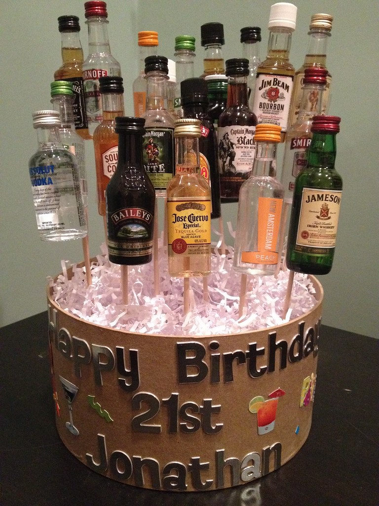Incredible 21St Birthday Cake Ideas With Alcohol Free Image Of 21St B Flickr Funny Birthday Cards Online Elaedamsfinfo
