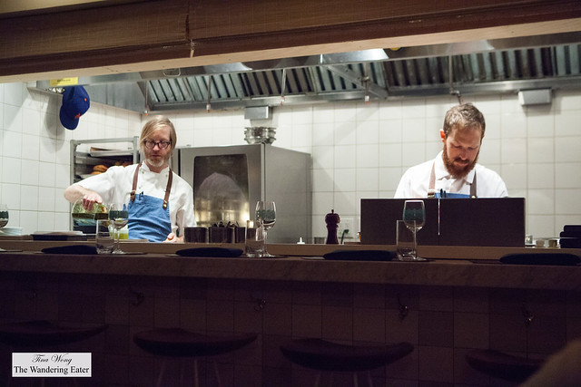 Chef/Owner Daniel Burns (left) and his sous chef