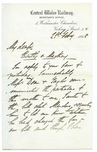 Central Wales Railway small letter 1868 | by ian.dinmore
