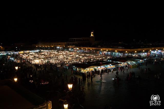Jamaa el Fna di notte