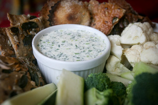 Homemade ranch and crudites   by monica.shaw