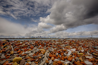 Brick and landfill debris with Toronto skyline in the distance | by Phil Marion (173 million views - THANKS)