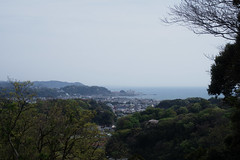 Kamakura from above, Sagami Bay