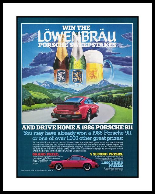Lowenbrau Porsche Contest, 1985