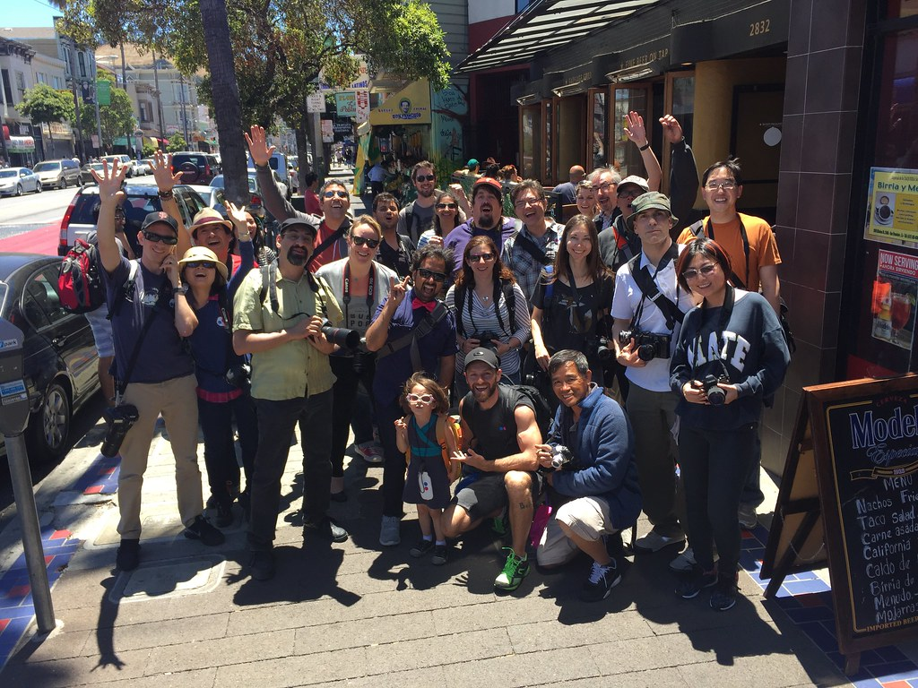 End of the #sanfrancisco Global #flickrphotowalk. Roughly 50 attendees and quite a few made it to the end.