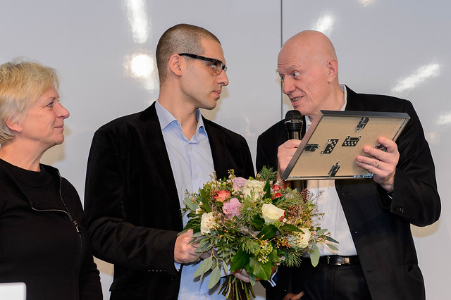 Barbara Unmüßig (Vorstand, Heinrich-Böll-Stiftung), Amir Kazkaz (Violations Documentation Center, Syrien), Ralf Fücks (Vorstand, Heinrich-Böll-Stiftung), Foto: www.stephan-roehl.de