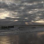 Sunset Coucher de soleil - Cap Ferret Bassin d'Arcachon Ocean Pecheur Fisherman Beach Plage Waves Vagues Water Eau - Picture Image Photography