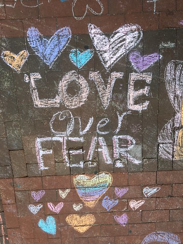 Chalking Our Pride & Sorrow & Strength & Love (Orlando): Love Over Fear | by rosefirerising
