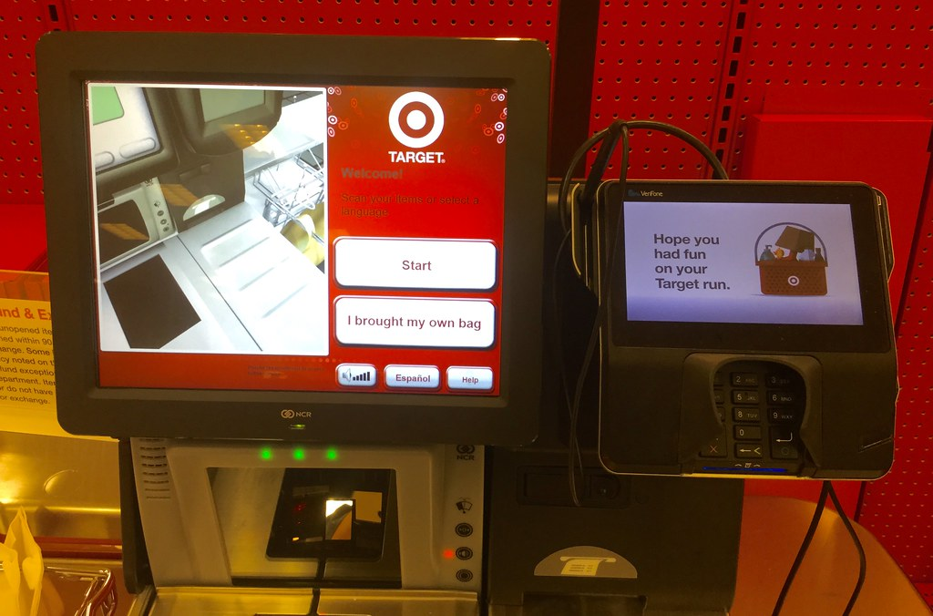 Target Self Check Out, 6/2016, Newington, CT pics by Mike Mozart of TheToyChannel and JeepersMedia on YouTube #Target #Self #Check #Out