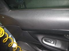 Peugeot tratamiento cuero, de la puerta antes