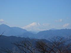 山頂から望む富士山