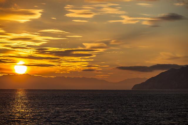 Lake Baikal January sunset