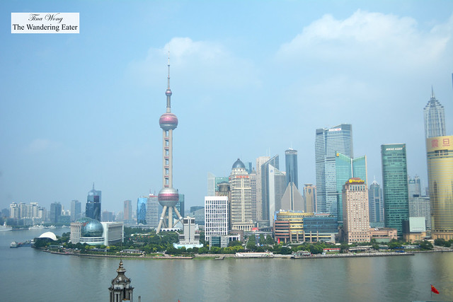 The view of Pudong from the Deluxe City View Room