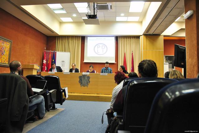 Manuel Sánchez de Diego (UCM), Agustín Yanel (FeSP), Mirentxu Mariño (20 Minutos), Juan Luís Sánchez (eldiario.es) y Darío Adanti (Revista Mongolia)