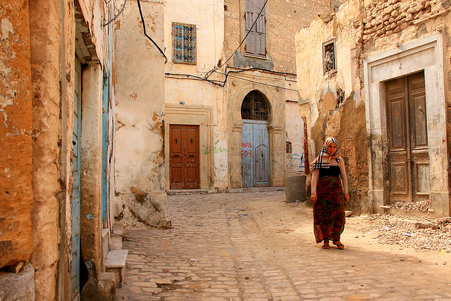 In the old streets of Sousse. Tunesia