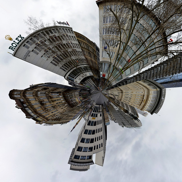 Frankfurt square-360 planet (intersected)