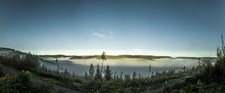 Ocean of fog [Panorama]   by gnseblmchen