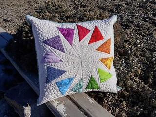 Circle of Geese block from the book, enlarged. Circle of Hope pillow.