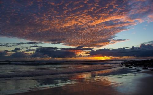 seascape sunrise australia burleighheads